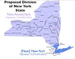 New York State Map by The Quixotic Campaign To Split New York State Geocurrents