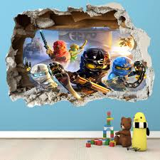 Buddy Home Furniture Lego Ninjago Smashed Wall Sticker 3d Bedroom Boys Girls Vinyl
