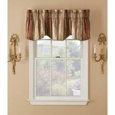 Tuscan Kitchen Curtains Valances by Window Accents Tuscan Stripe Scroll Stripe Jacquards Rod Pocket