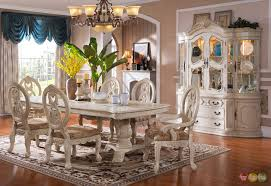 dining room set the weston formal antique white wash dining room