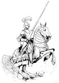 beautiful knight on horse coloring pages for big people