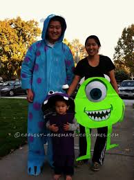 Group Family Halloween Costumes by Coolest Monsters Inc Family Costume Boo Sully Mike And Mike U0027s