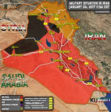Iraq Syria Map by Military Situation In Iraq On January 6 2017 Map Update