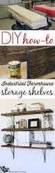Building Wood Shelves For Storage by Farmhouse Flair Diy Wood Storage Shelf How To Diy Wood Shelves