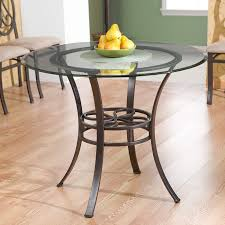 Metal Dining Room Chair Amazon Com Round Metal Glass Top Dining Table Tables
