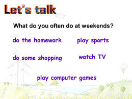 Section A What do you often do at weekends  do the homework do the     What do you often do at weekends