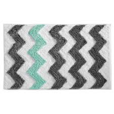 Multi Colored Bathroom Rugs Amazon Com Interdesign Microfiber Chevron Rug 34 X 21 Inch Gray
