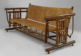 large 1930s american old hickory co settee porch glider for sale