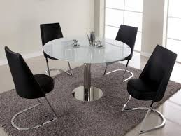 Dining Room Sets With Round Tables Round Tempered Glass Top Dining Table Set For Small Spaces Alfa