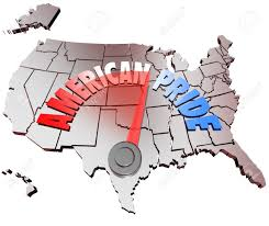 The Map Of The United States Of America by The Words American Pride On A Map Of The United States Of America