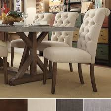 Safavieh Dining Room Chairs by Tribecca Home Benchwright Button Tufts Upholstered Rolled Back