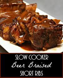 slow cooker beer braised short ribs recipe it u0027s yummi