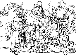 pony cartoon my little pony coloring page 082 wecoloringpage