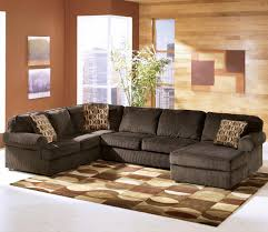 Ashley Furniture Couches Vista Chocolate 3 Piece Sectional With Right Chaise By Signature