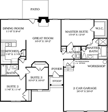 european style house plan 3 beds 2 baths 1400 sq ft plan 453 28