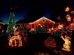 house decorated with christmas lights picture free photograph