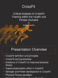 critical analysis of crossfit within the health and fitness