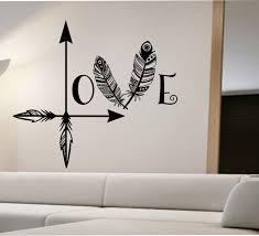 love arrow wall decal feather namaste vinyl sticker art decor arrow feather love wall decal namaste vinyl sticker art decor bedroom design mural home decor room
