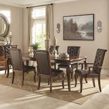 Dining Table Set Traditional Coaster 106811 812 813 Williamsburg Roasted Chestnut 7 Pc Dining Set