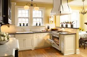 glamorous white country kitchen design with wooden painted white