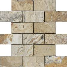 anatolia tile pablo travertine mosaic wall tile common 12 in x
