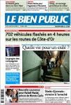 Journal LE BIEN PUBLIC (France). Les Unes des journaux de France.