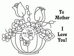 to mother with love mother u0027s day coloring page for kids