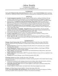 Example Resume  Advertising Account Executive Resume Sample     Binuatan