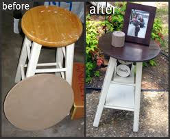 Recycle Home Decor Ideas Don U0027t Throw That Old Stool Out Make It Into A Table Instead