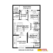 house plan for 29 feet by 45 feet plot plot size 145 square yards