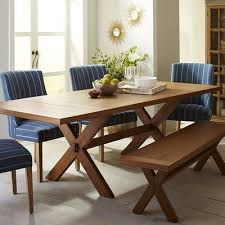 Nolan Extension Java Trestle Table Pier  Imports - Pier one dining room sets