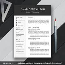 resume paper white or ivory professional resume template cv template cover letter ms zoom