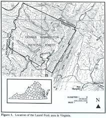 Virginia On Map by Wandering Virginia Laurel Fork October 15 16