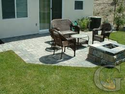Backyard Cement Patio Ideas by Concrete Patio Designs With Fire Pit Home Decor Color Trends