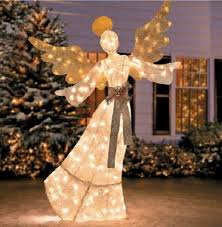Christmas Yard Decoration Images Angels Lighted Yard Displays Christmas Wikii