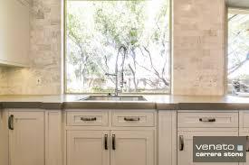 Carrara Marble Subway Tile Kitchen Backsplash - Carrara tile backsplash
