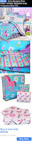 Girls Horse Bedding Set by Kids At Home Girls Western Pink Pony Horse Bedding 6 8p Turquoise