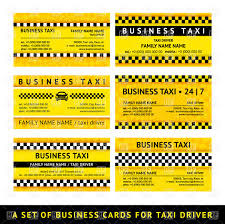 Business Card Eps Template Set Of Yellow Taxi Business Card Templates Vector Image 17186