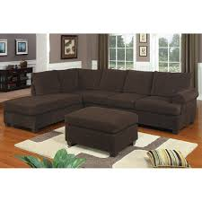 Chocolate Living Room Furniture by Chocolate Corduroy Reversible Chaise Sectional Sofa