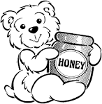 Friends Across America - FREE Printable Coloring Page - Honey Bear ... friendsacrossamerica.com