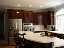Painting Kitchen Cabinets Espresso Brick Walls Cherry Cabinet Kitchens Brown Oak Wooden Kitchen
