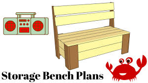 Plans To Build A Storage Bench by How To Build A Storage Bench Youtube