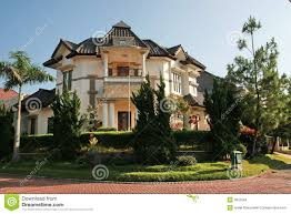 tropical house in indonesia stock images image 3810594