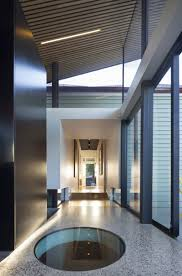 architecture interior house design with ceiling lamps and glass