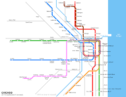 North Shore Chicago Map by Urbanrail Net U003e North America U003e Usa U003e Illinois U003e Chicago L Subway