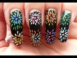 53 best firework nail art tutorial u0026 fire nails design video