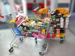 carrinho de supermercado cheio
