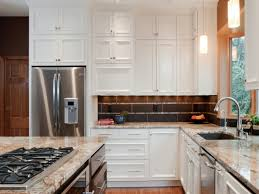Dark Stained Kitchen Cabinets Decor Lovable Beige Costco Granite Countertops With Deluxe White