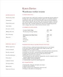 warehouse worker resume objective warehouse resume examples example resume warehouse worker resume