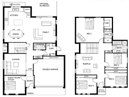 2 story house floor plans with garage good simple design ideas